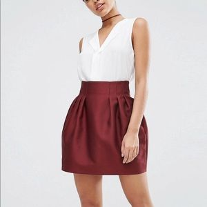 ASOS pelmet mini skirt in satin